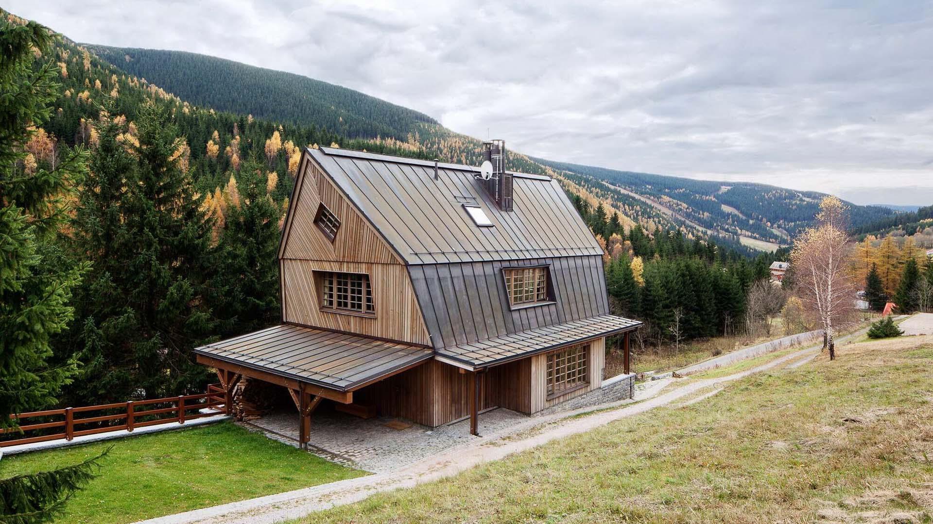 万方别墅健康生活种类线条外墙木屋图片